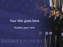 Download soldiers blue PowerPoint Template and other software plugins for Microsoft PowerPoint
