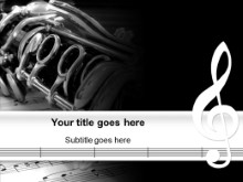 Music Powerpoint Template Background In Art Entertainment Powerpoint