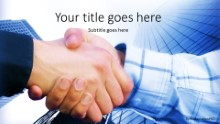PowerPoint Templates - Corporate Hand Shake Widescreen