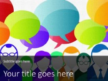 PowerPoint Templates - Crowd Communication