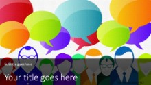 PowerPoint Templates - Crowd Communication Widescreen