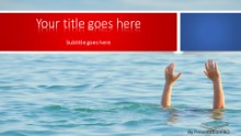 PowerPoint Templates - Drowning Help Widescreen