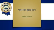 PowerPoint Templates - Excellent Support Blue Widescreen