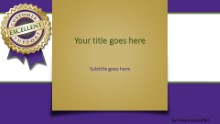 PowerPoint Templates - Excellent Support Purple Widescreen