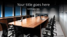 Modern Conference Room Widescreen PPT PowerPoint Template Background