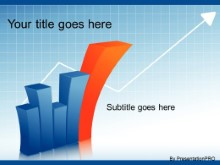PowerPoint Templates - 3d Graph Increasing