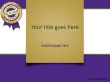 PowerPoint Templates - Excellent Support Purple