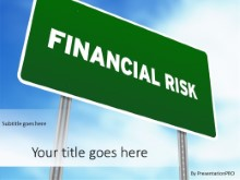 PowerPoint Templates - Financial Risk Sign