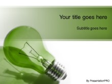PowerPoint Templates - Idea Brainstorm Green