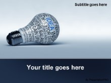 Download idea concepts bulb blue PowerPoint Template and other software plugins for Microsoft PowerPoint