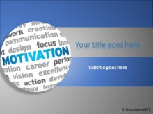 Motivation World Cloud PowerPoint template background in