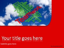 PowerPoint Templates - Teamwork Tag Cloud