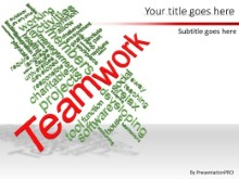 PowerPoint Templates - Teamwork Tag Cloud B