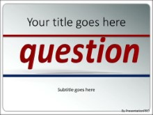 PowerPoint Templates - The Question