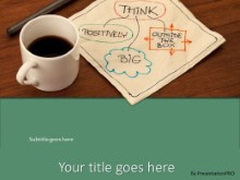 PowerPoint Templates - Thoughts Over Coffee Green