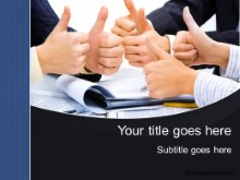 PowerPoint Templates - Yes Thumbs Up