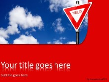 PowerPoint Templates - Yield In Clouds
