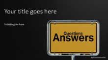 Questions Answers Sign Widescreen