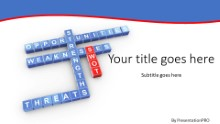 PowerPoint Templates - SWOT Crossword Widescreen