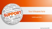 PowerPoint Templates - Support World Cloud Widescreen