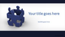 PowerPoint Templates - Teamwork Puzzle Widescreen