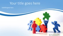Teamwork Solution Widescreen PPT PowerPoint Template Background