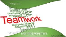 PowerPoint Templates - Teamwork Tag Cloud A Widescreen