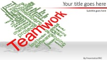 PowerPoint Templates - Teamwork Tag Cloud B Widescreen