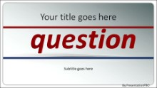 PowerPoint Templates - The Question Widescreen
