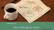 PowerPoint Templates - Thoughts Over Coffee Green Widescreen