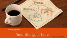 PowerPoint Templates - Thoughts Over Coffee Orange Widescreen