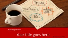 PowerPoint Templates - Thoughts Over Coffee Red Widescreen