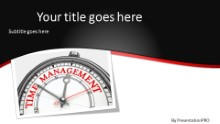 PowerPoint Templates - Time Management B Widescreen