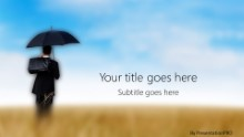 PowerPoint Templates - Umbrella Field Widescreen