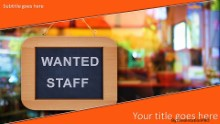 PowerPoint Templates - Wanted Staff Widescreen