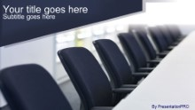Conference Chairs Widescreen PPT PowerPoint Template Background
