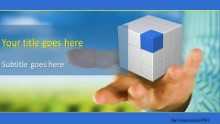 PowerPoint Templates - Cube In Hand Widescreen