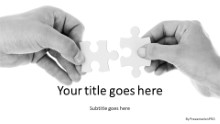 PowerPoint Templates - Hold Puzzles Widescreen