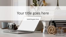 PowerPoint Templates - Home Office Desk 01