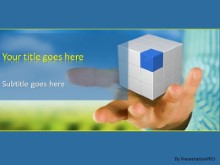 PowerPoint Templates - Cube In Hand
