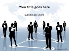 International Business Network PPT PowerPoint Template Background