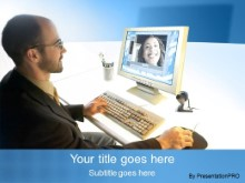 Download video conference blue PowerPoint Template and other software plugins for Microsoft PowerPoint