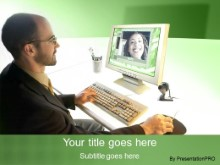 Download video conference green PowerPoint Template and other software plugins for Microsoft PowerPoint