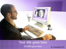 Download video conference purple PowerPoint Template and other software plugins for Microsoft PowerPoint