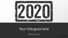 2020 Stamp Black Widescreen