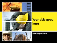 Conceptual Construction Yellow PPT PowerPoint Template Background