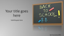 Back To School Black Board Widescreen PPT PowerPoint Template Background