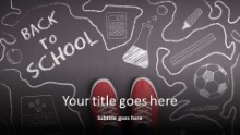 Back To School Sidewalk Widescreen PPT PowerPoint Template Background