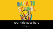 Back To School Supplies 3 Widescreen PPT PowerPoint Template Background
