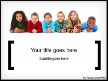 my family PowerPoint template background in Education and